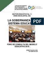 Gobernanza Del Sistema Educativo. z56