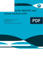 The search for MH370 and ocean surface drift.