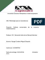 Calibres Comerciales Rangel