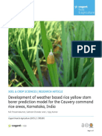 Development of Weather Based Rice YellowStemborer