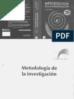 Metodologia de La Investigacion Hernandez Fernandez Batista 4ta Edicion