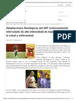 Adaptaciones Fisiológicas Del HIIT (Entrenamiento Intervalado de Alta Intensidad) de Bajo Volumen en La Salud y Enfermedad - National Council on Strength & Fitness _ G-SE