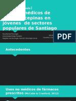 Usos No Médicos de Benzodiacepinas en Jóvenes de Sectores Populares de Santiago