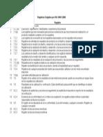Registros Exigidos Por ISO 9001 2008