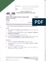 Kertas Sebenar SPM 2016 Bahasa Inggeris 1119/2