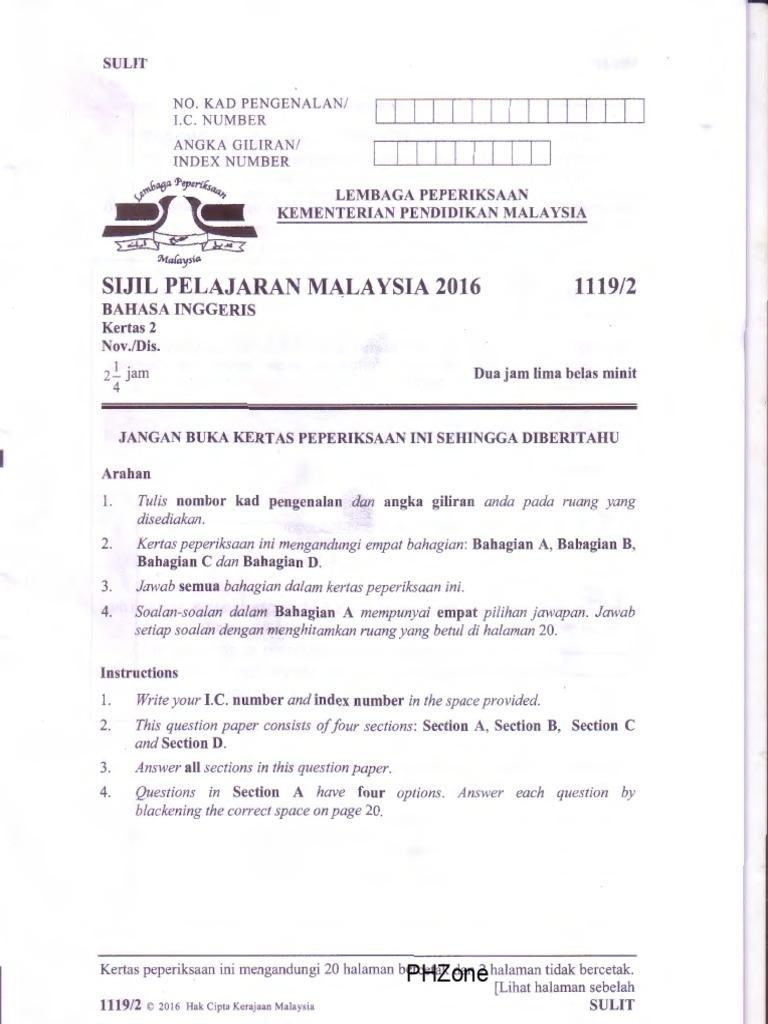 spm bi 1119 Spm english 1119 tips / tips bahasa inggeris spm sijil pelajaran malaysia  untuk rujukan semoga perkongsian bahan-bahan rujukan, panduan, bahan.