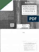 Rein, Raanan. Peronismo, populismo y política argentina 1943-1955.pdf