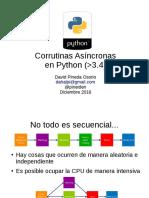 Corrutinas Asíncronas en Python