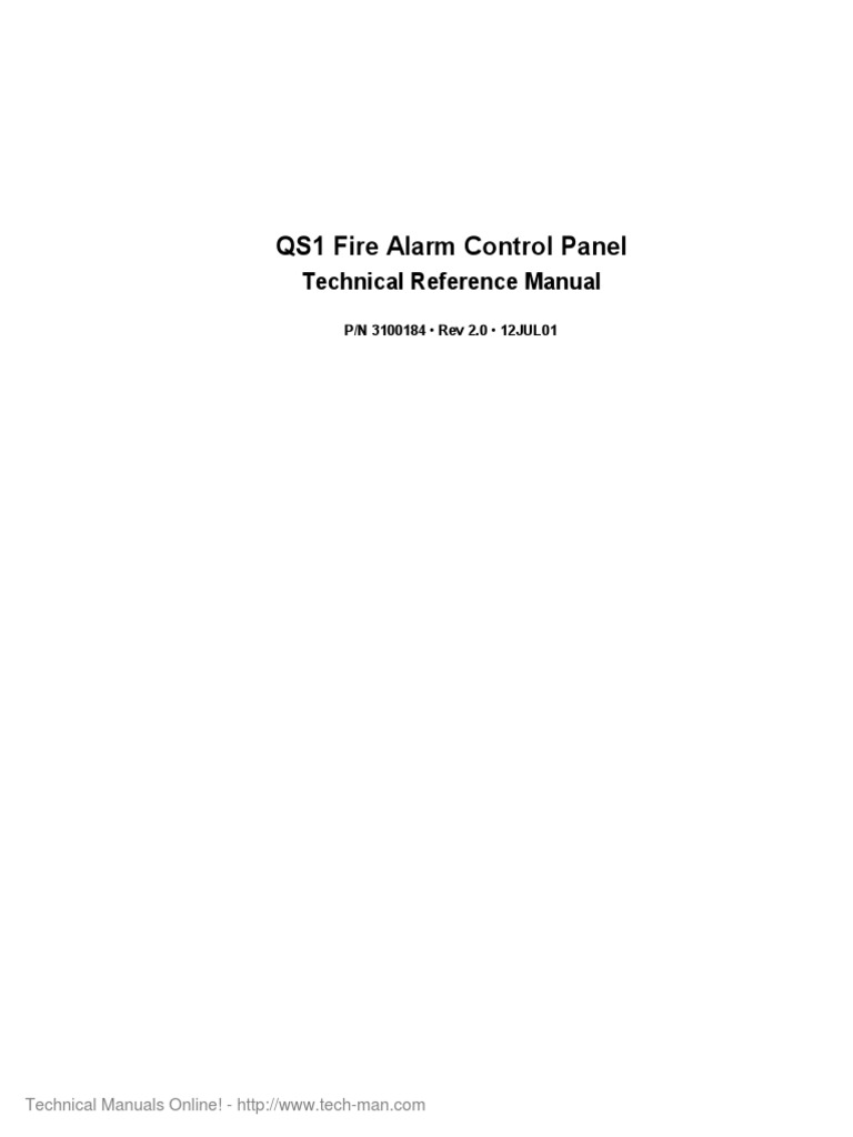 EST QS1 v2.0 Technical Reference Manual | Fire Sprinkler System | Printed  Circuit Board