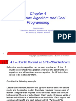 Ch 04 Simplex Algorithm and Goal Programming