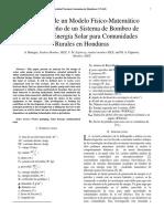 Sistema de Bombeo de  Agua con Energía Solar