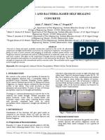 Bio Concrete and Bacteria Based Self Healing Concrete