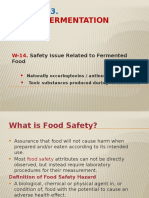Week-14_Safety Issue on Fermented Food