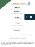 CAPITULO III . Evaluacion Educativa .