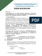 Memoria Descriptiva -Pisonaypata
