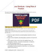 Profit and Loss Shortcuts