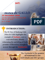 Day 8 - Misa de Gallo 2016 Homily