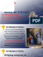 Day 6 - Misa de Gallo 2016 Homily