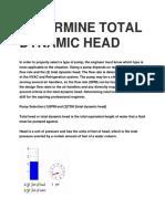 Determine Total Dynamic Head