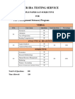 PhD(Mgt) Sample Test Paper-Spring-2017