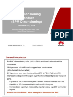 RNC Dimensioning Procedure (SPM Dimensioning)