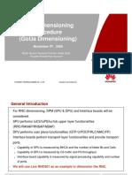 RNC Dimensioning Procedure (GoUa Dimensioning)