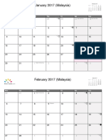 Malaysia January 2017 - December 2017