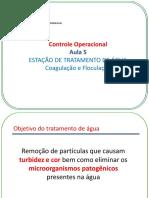 Controle Operacional - ETA Coagulação e Floculação
