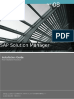 Sap Solution Manager - Installation Guide - Post-installation activity guide
