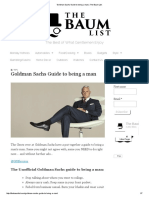 Goldman Sachs Guide to Being a Man _ the Baum List
