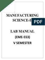 MS-II Lab Manual
