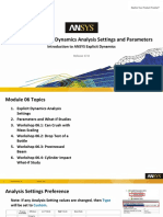 Intro Expl Dyn 17.0 M06 Explicit Dynamics Analysis Settings and Parameters