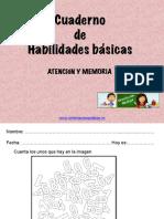 Cuaderno de Habilidades Básicas Atención y Memoria