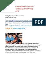 Strategic Planning Case Study