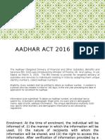 Aadhar 2016