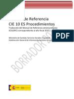 CIE10ES 2015 Procedimientos M Referencia