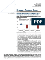 Singapore telecoms by Credit Suisse