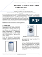 Modelling and Vibrational Analysis of Front Loaded Washing Machine