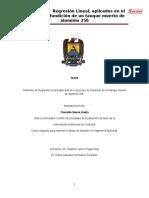 Metodos de Regresion Lineal Aplicados al Proceso de Fundicion de Aluminio.