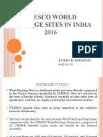 Unesco World Heritage Sites in India 2016