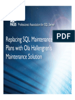 Using Ola Hallengrens SQL Maintenance Scripts