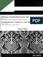 Formas Instrumentales Del Renacimiento