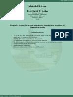02. Atomic Structure, Interatomic Bonding & Crystalline Solids