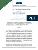 Ley 4-2009, De 14 de Mayo, De Protección Ambiental Integrada (CONSOLIDADA, CON CAMBIOS YA DEL DEC LEY 2-2016