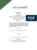 SENATE HEARING, 108TH CONGRESS - BANK SECRECY ACT ENFORCEMENT