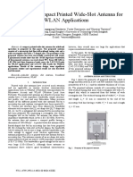 Design of a Compact Printed Wide-Slot Antenna For
