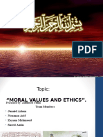 Moral and Ethical Values