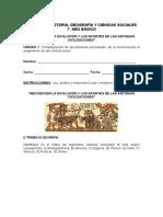 Prueba Reconocer La Evolucion y Los Aportes de Las Antiguas Civilizaciones 7 Basico