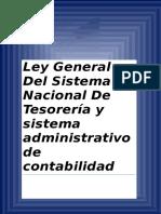 LEY GENERAL DE TESORERIA Y DE CONTABILIDAD