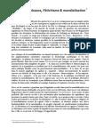 Stavros Tombazos - Fétichisme et mondialisation